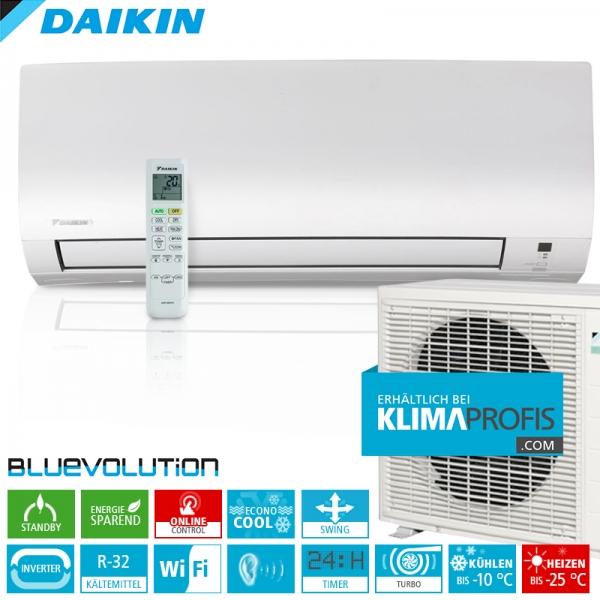 Daikin Comfora FTXTP25K ColdRegion WiFi R32 Inverter Wand-Klimageräte-Set 4 kW
