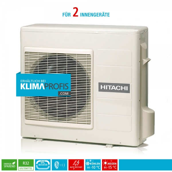 Hitachi Multizone RAM-53NP2E R32 Multisplit Inverter Außengerät 6,6 kW für 2 Innengeräte
