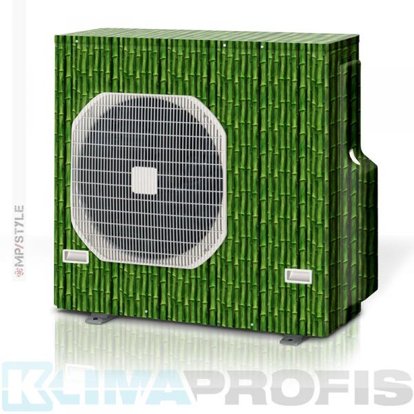 MP-Style - Dekorfolie green Bambus, KSF006 für Außengerät, selbstklebend, laminiert mit UV-Schutz