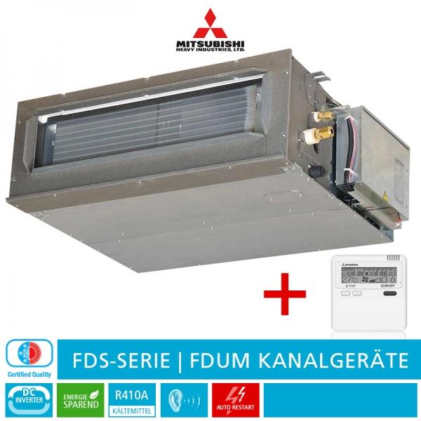 Mitsubishi Heavy FDUM 125 VF Kanalklimagerät, FDS-Serie - 12,5 kW