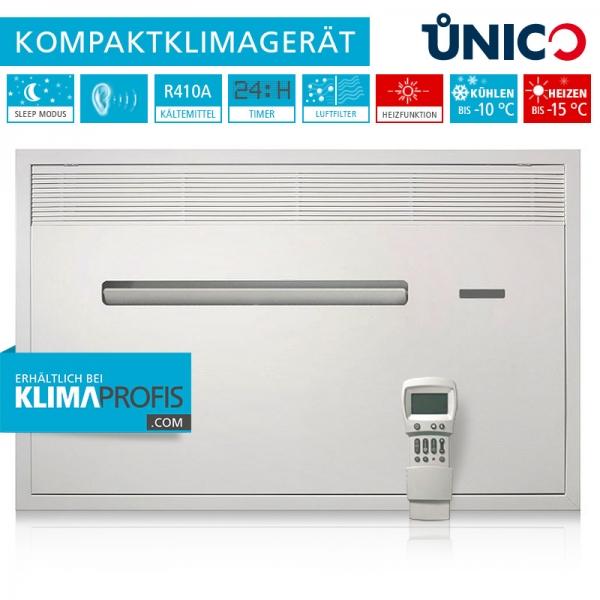 Unterputz-Klimagerät Unico Air 8 HP Wand-Truhenklimagerät - 1,8 kW, Kühlen und Heizen