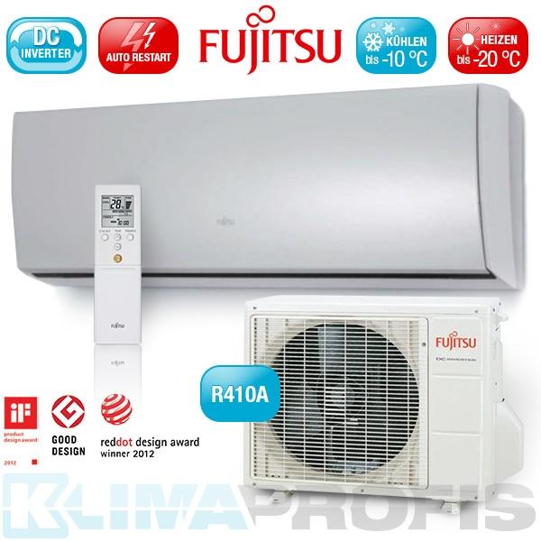 Fujitsu Nordic ASYG-12 LTCB Inverter Design Wandklimageräte Set - 4,0 kW