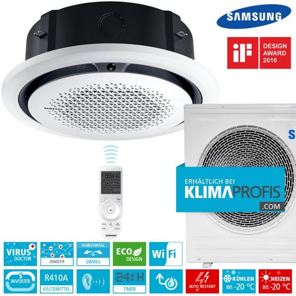 Samsung AC071 - 360° Airflow Deckenkassetten Set, rund - 8 kW