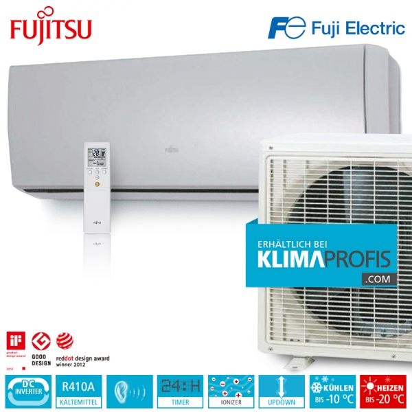 Fujitsu ASYG12LTCA Inverter Design Wandklimageräte Set - 4 kW