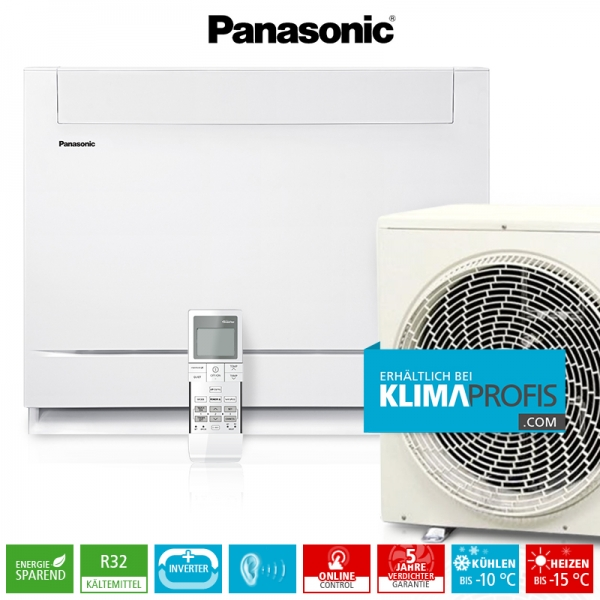 Panasonic Mini-Standtruhe CS-Z25UFEAW R32 Inverter Plus Klimageräte-Set - 3,4 kW