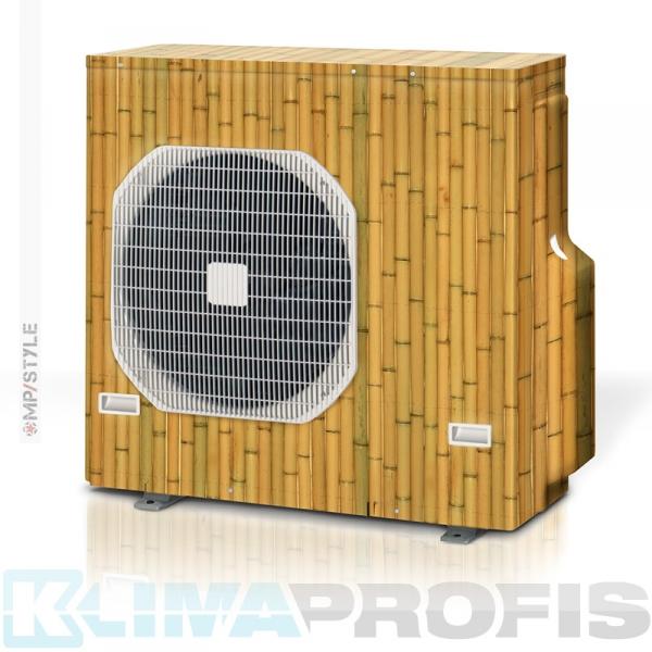 MP-Style - Dekorfolie Bambus, KSF001 für Außengerät, selbstklebend, laminiert mit UV-Schutz