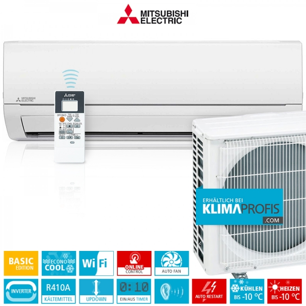 Mitsubishi MSZ-DM25VA Basic Edition Inverter Wandklimageräte Set - 3 kW
