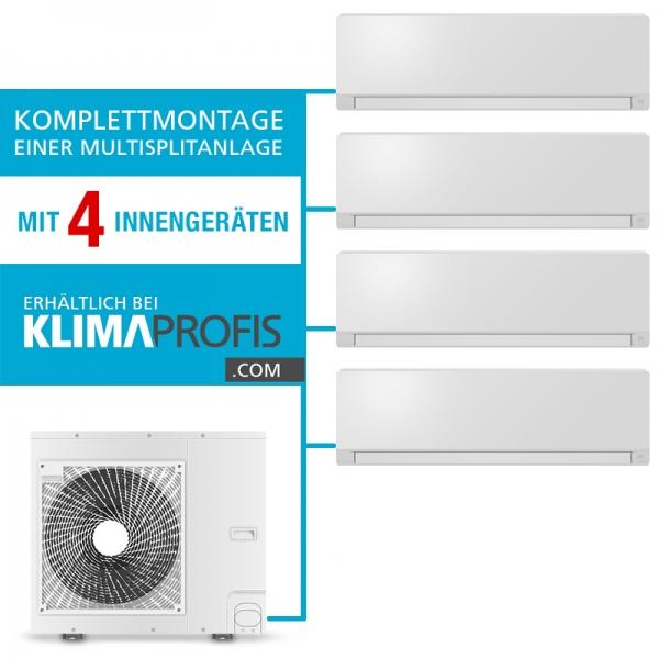 Montageservice einer Multisplit-Klimaanlage mit 4 Inneneinheiten (Auf Anfrage)