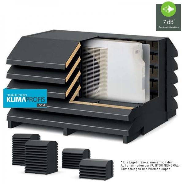 Schallschutz-Wärmepumpen-Einhausung Wave, -7 dB* für FUJITSU GENERAL Außeneinheiten