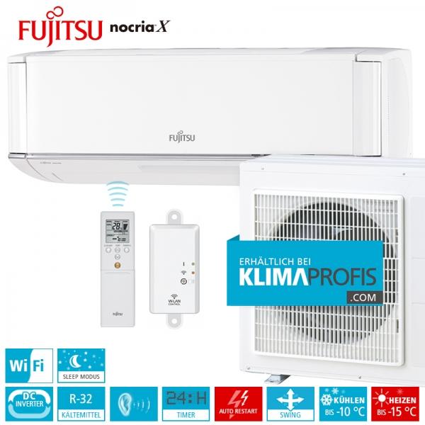 Fujitsu nocria™X ASYG12KXCA Wandklimageräte R32 Premium Inverter Set - 5,3 kW