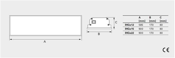 Abmessung-infraglas