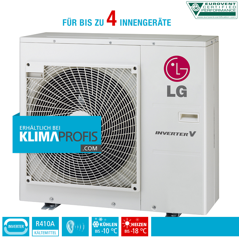lg multi split inverter v au eneinheit mu4m25 8 5 kw f r 4 innenger te klimaprofis. Black Bedroom Furniture Sets. Home Design Ideas