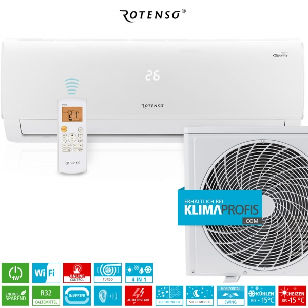 Rotenso Ukura U70W WiFi Inverter Wand-Klimageräte-Set - 7,95 kW