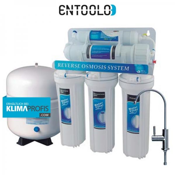 5 Stufen Umkehrosmoseanlage Alpha bis 110 Liter/Tag, 5 Bar