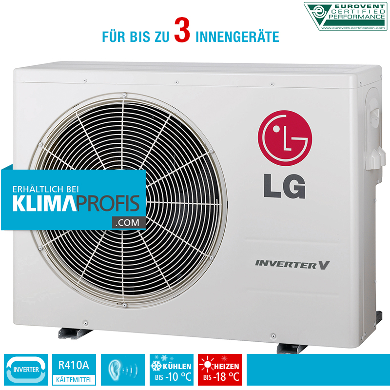 lg multi split inverter v au eneinheit mu3m19 6 3 kw f r 3 innenger te klimaprofis. Black Bedroom Furniture Sets. Home Design Ideas