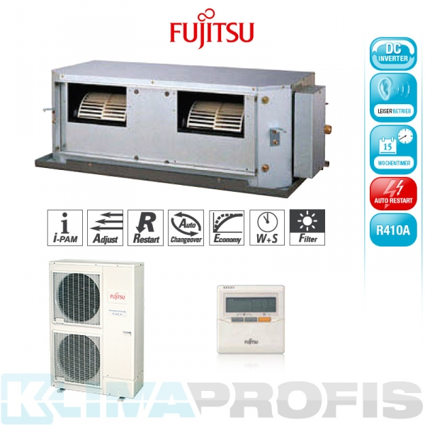 Fujitsu ARYG 45 LHT Zwischendecken- Klimageräte Set - 14,0 kW