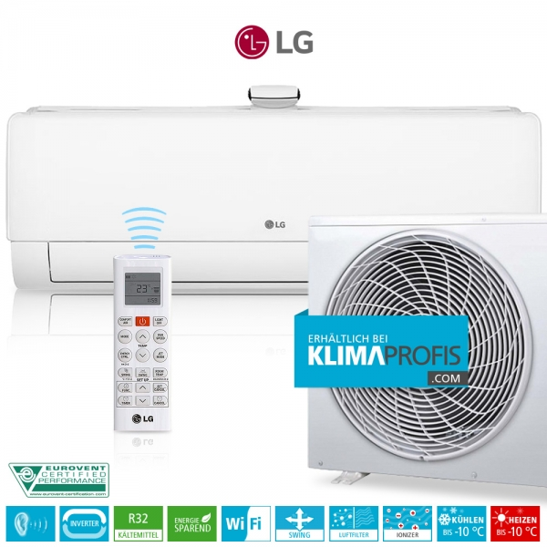 LG Deluxe Air Purification AP09RT Dual Inverter R32 - Wandklimageräte Set - 3,7 kW