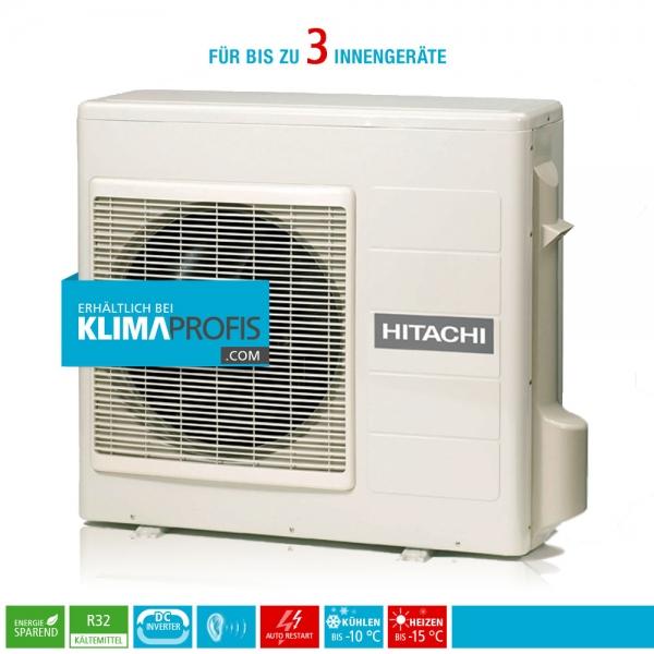 Hitachi Multizone RAM-53NP3E R32 Multisplit Inverter Außengerät 6,6 kW für 3 Innengeräte