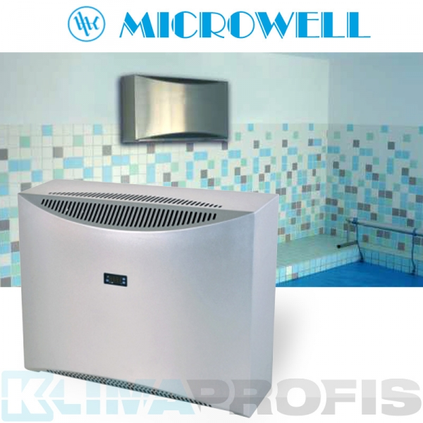 Schwimmbad Luftentfeuchter Microwell Dry 300 metal - 36 l/24 Std.