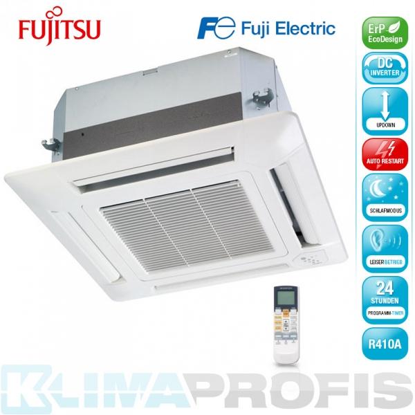 Fujitsu AUYG 09LVLA 4-Wege Kassettenklimagerät Inneneinheit Inverter - 2,5 kW