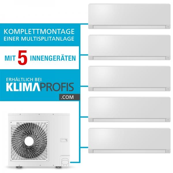 Montageservice einer Multisplit-Klimaanlage mit 5 Inneneinheiten