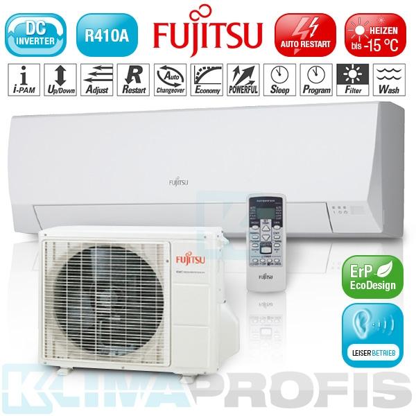 Fujitsu ASYG-12LLC Basic Wandklimageräte Inverter Set - 3,4 kW