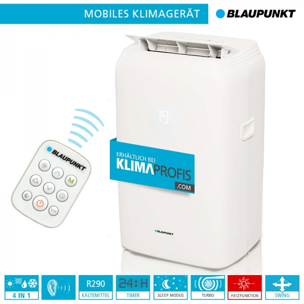 Mobiles Klimagerät Blaupunkt Moby Blue S 1111E - 3,2 kW