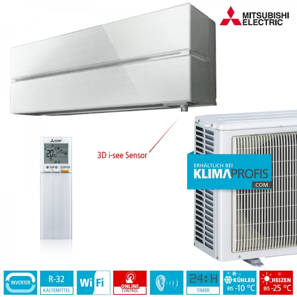 Mitsubishi Electric MSZ-LN35VG Diamond R32 Hyper Heating Wandklimageräte-Set - 4 kW