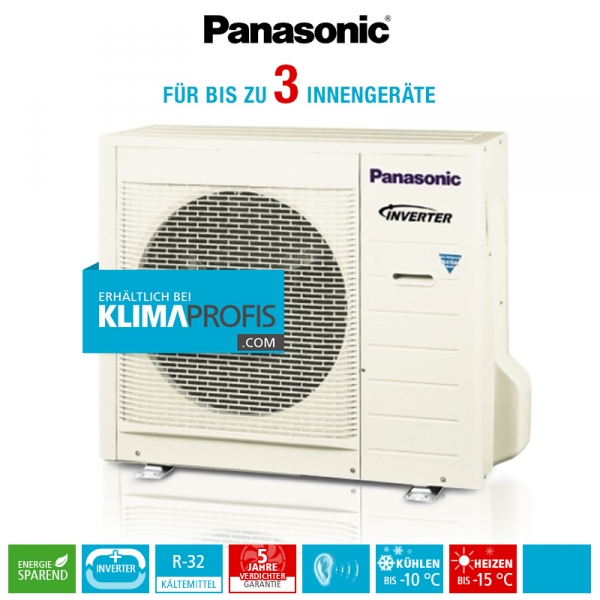 Panasonic CU-3E23SBE R32 Multi-Split Inverter Plus Außengerät - 8 kW