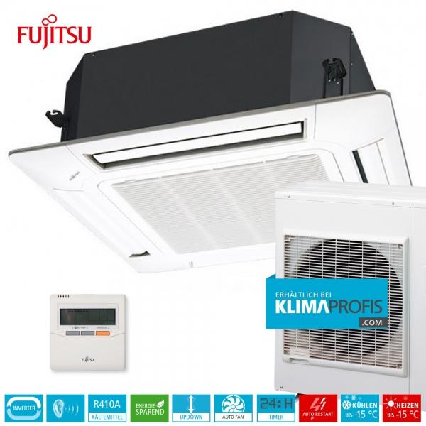 Fujitsu AUYG30LRLE R410A Inverter 4-Wege-Klimageräte-Set 10 kW