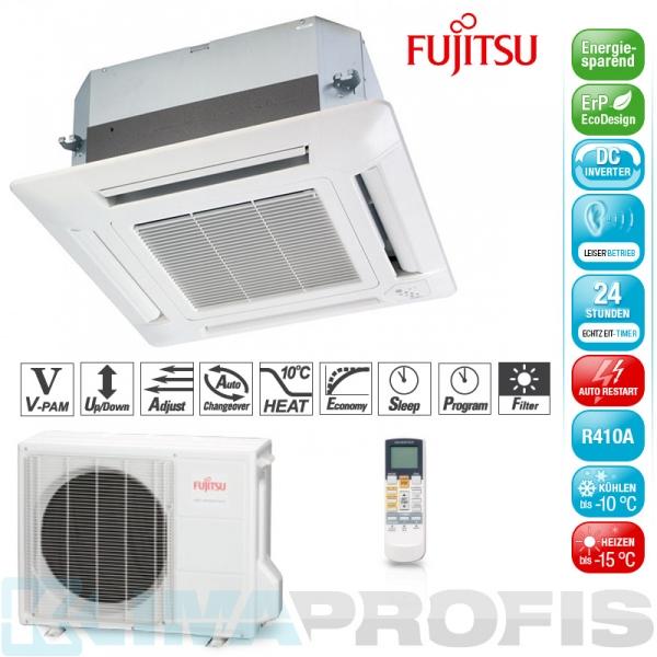 Fujitsu AUYG 12 LVL Deckenkassetten Set - 4,4 kW