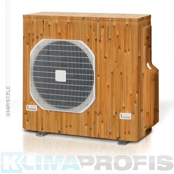 MP-Style - Dekorfolie Bambus, KSF002 für Außengerät, selbstklebend, laminiert mit UV-Schutz