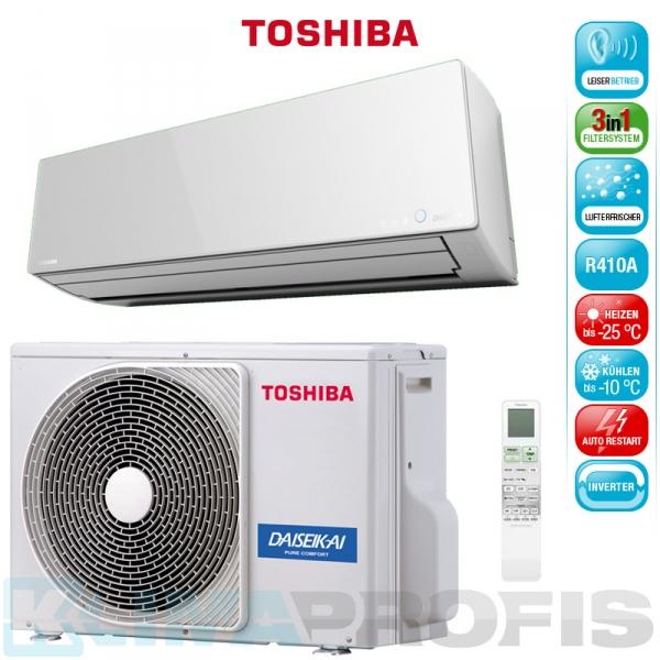 Toshiba Super Daiseikai 8 RAS 16G2AVP-E Wandklimageräte Set - 5 kW