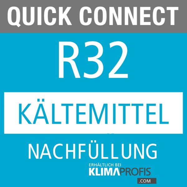 Anschlussarmaturen Kältemittel R32 Nachfüllung, 10g