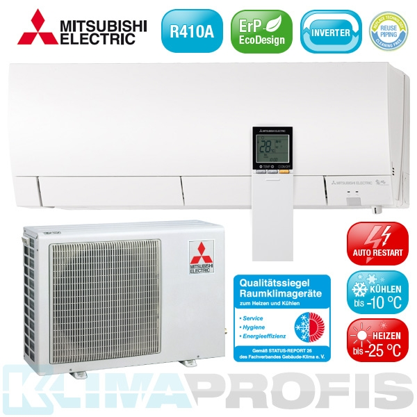 Mitsubishi MSZ-FH25VEHZ Hyper Heating Inverter Klimageräte-Set - 3,5 kW